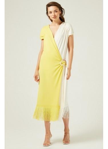 Mimoza Elbise Sarı